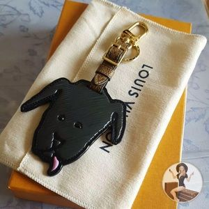 Louis Vuitton Catogram Dog Bag Charm Keychain